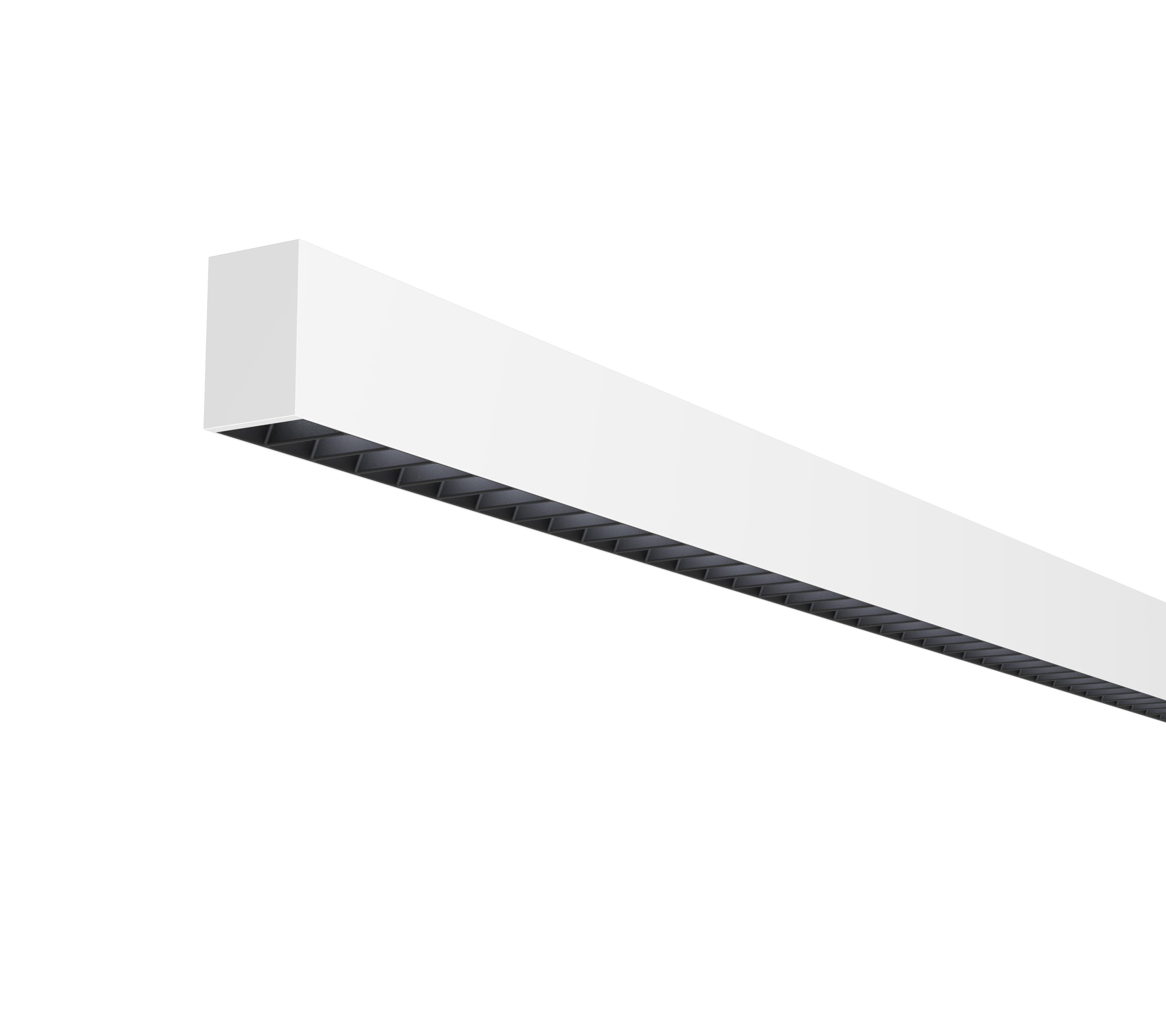 White surface with black baffle