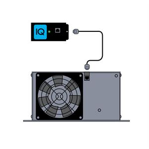 IQ4 Installation Illustration - showing the IOTA IQ4 module connecting to an IOTA DLS Dual Voltage Jack