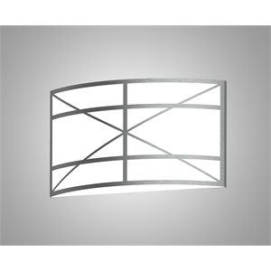 Silhouette HPSS3 Pattern Horizontal Wall Sconce