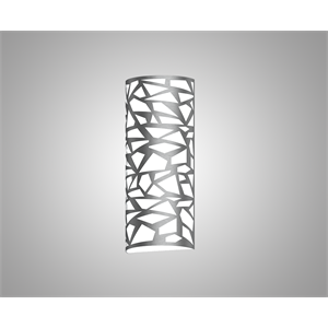 Silhouette HPSS2 Pattern Vertical Wall Sconce