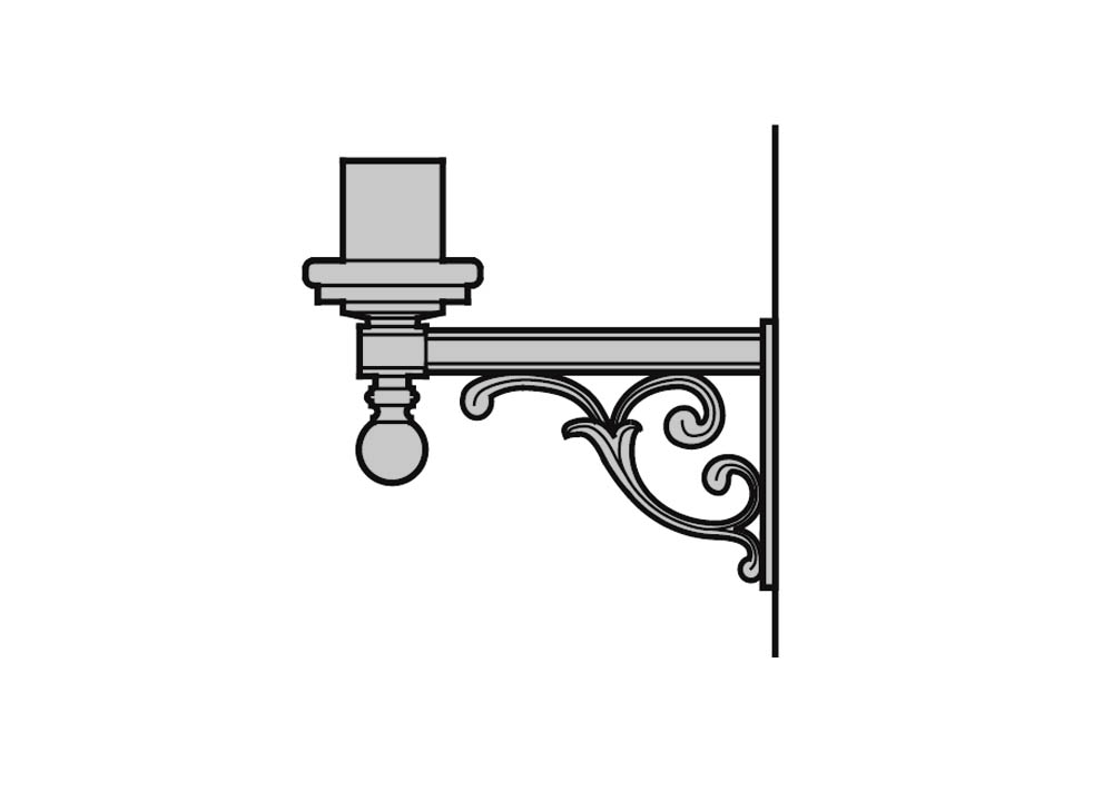 Upright Wall Brackets - Cast Aluminum