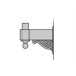 Upright Wall Brackets - Cast Aluminum