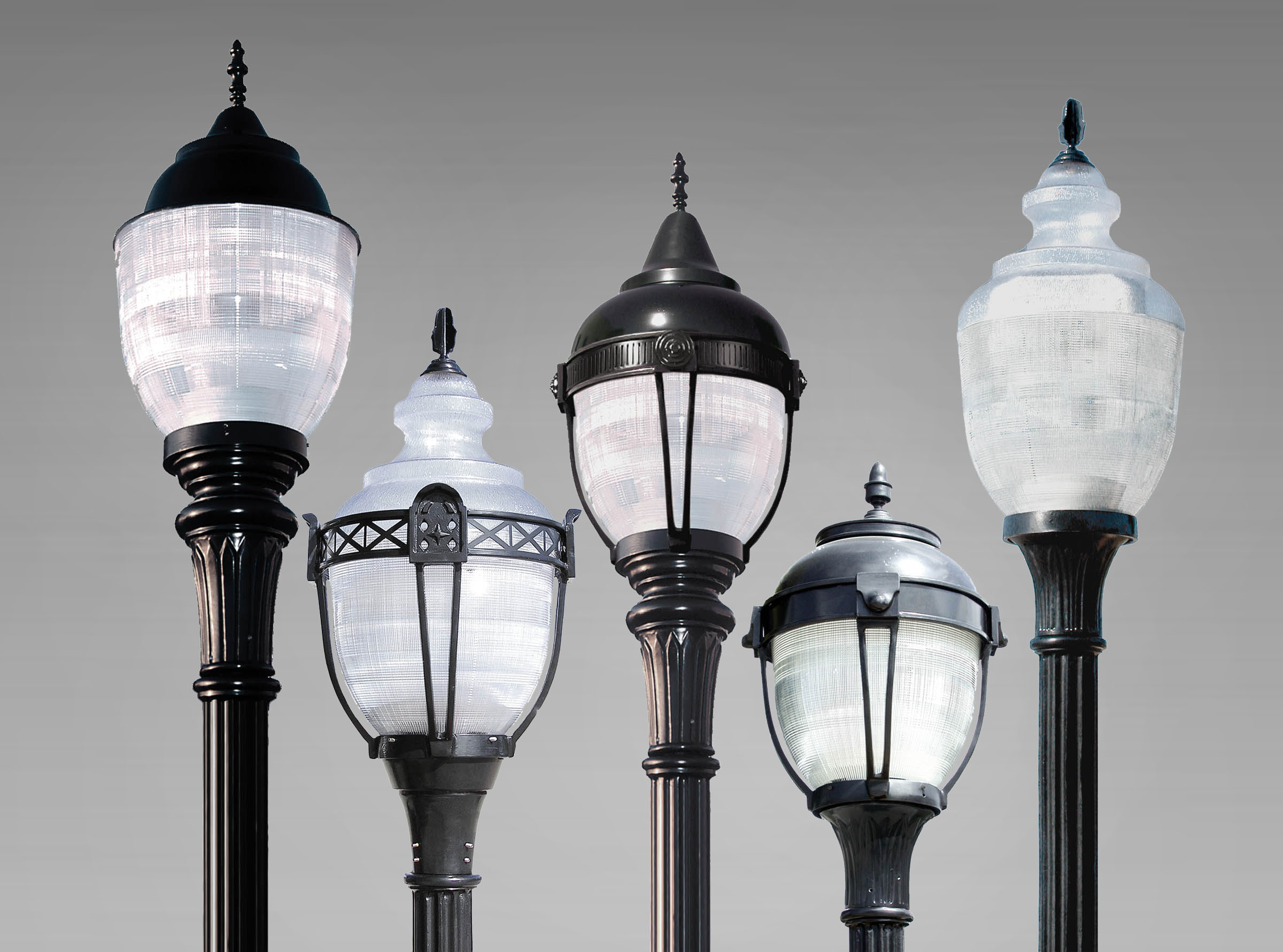 Rg led series prismatic acorn luminaires