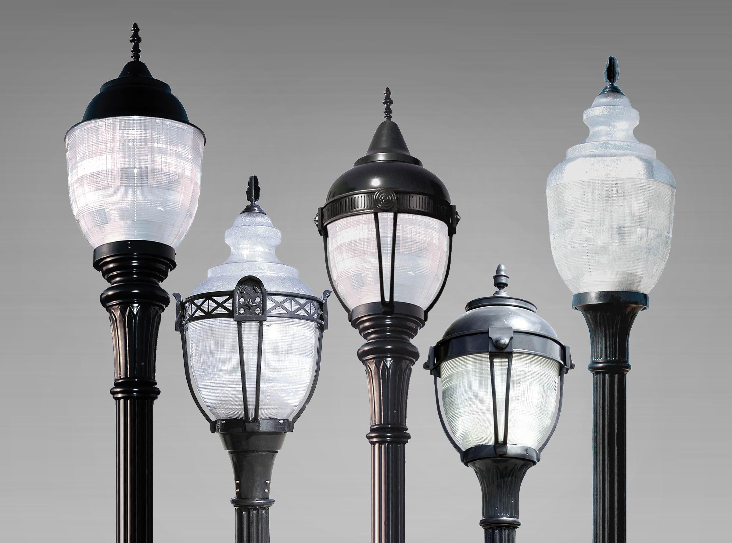 RG LED Series prismatic acorn luminaires