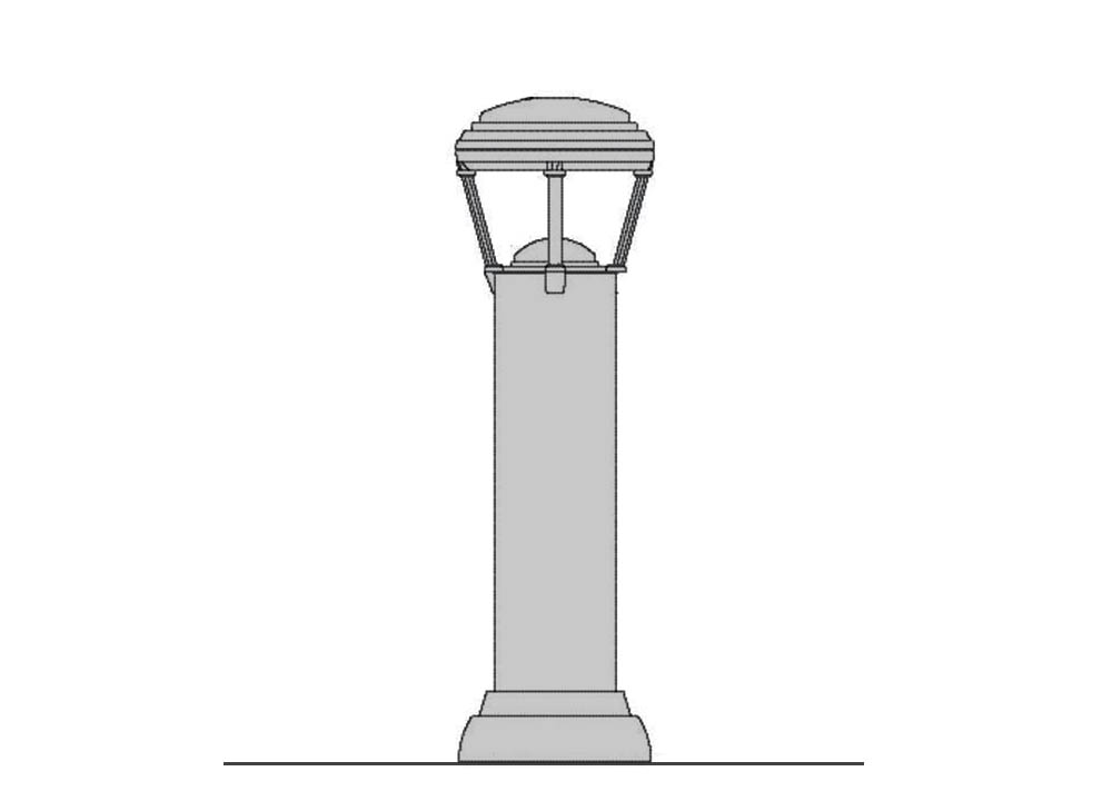Resonance Series Cast Aluminum Bollard - Lighted (HID)