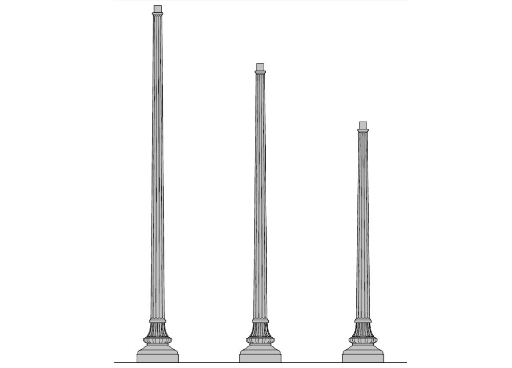 Washington Series Aluminum Post