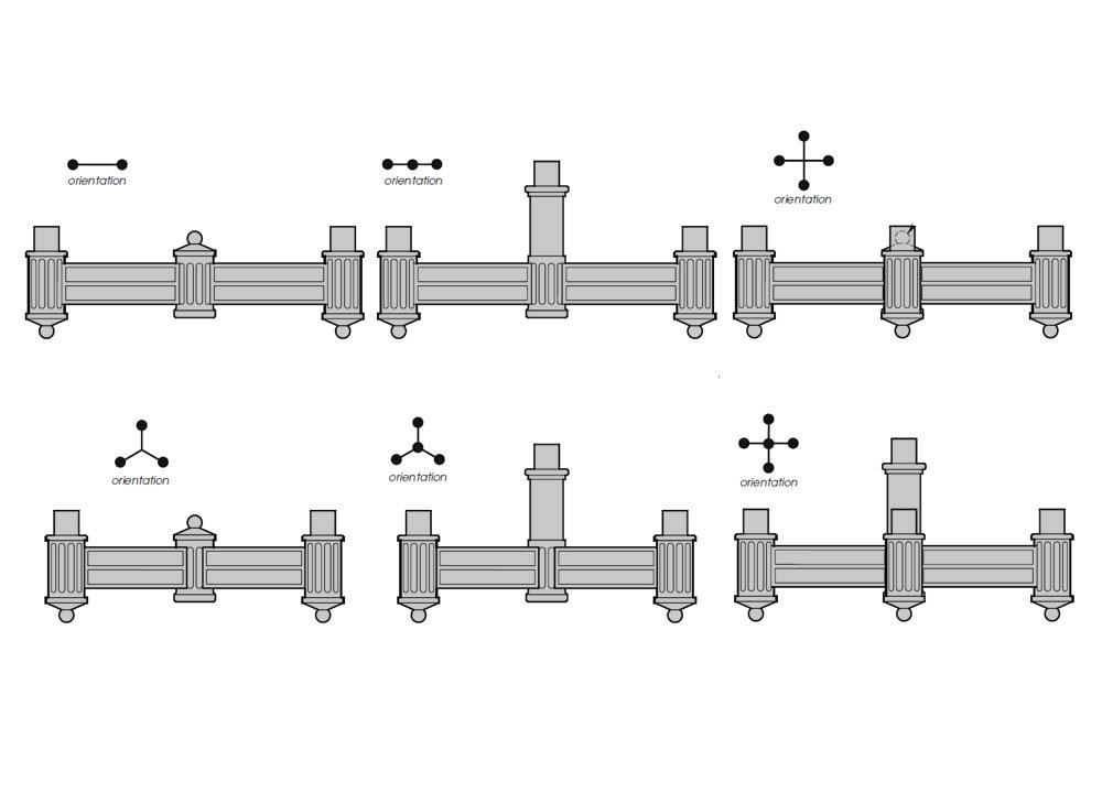 PCP Post Top Upright Arms - Cast Aluminum